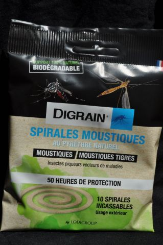 Insecticide spirale naturel anti moustique